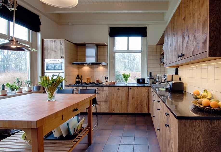 Greeploos Keuken Engels : Keuken – Rustiek eiken « Nijland Interieur & Meubelmakerij